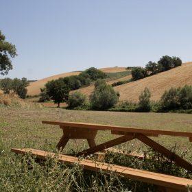 Picknick tafel op Camping Suasa