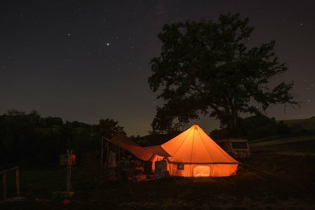 Bell tent camping suasa
